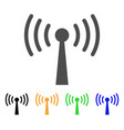 wi-fi station icon vector image vector image