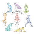 yoga for pregnant set vector image vector image