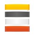 Clothes Realistic Fabric Labels Set vector image