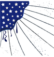 Popart Blue USA Flag with Stars and Stripes vector image