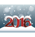 2016 Lights Bokeh Background vector image vector image