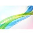 Abstract colorful wave background Bright shining vector image