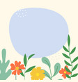 abstract spring and summer flat simple natural vector image vector image