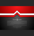 Abstract tech corporate background vector image vector image