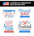 american president inauguration greetings set vector image