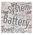 Battery Maintenance text background wordcloud vector image vector image