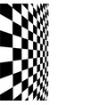 black and white checker 3d rendered image vector image vector image