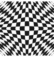 black and white geometric checkered 3d pattern vector image vector image