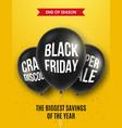 black friday sale design for brochure flyer vector image vector image