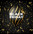 black friday sale discount promo black and gold vector image