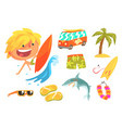 boy surfer extreme sportsman kids future dream vector image vector image