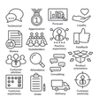 Business management icons in line style Pack 26 vector image vector image