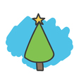 Cartoon doodle christmas tree vector image
