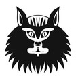 cat head icon simple style vector image vector image