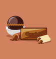 chocolate concept design vector image vector image