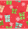 christmas presents seamless pattern different vector image vector image