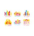 city logo design set real estate emblem vector image vector image