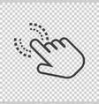 click here icon hand cursor signs black button vector image vector image