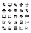 cloud computing solid icons 2 vector image vector image