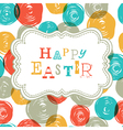 colorful happy easter card design vector image vector image