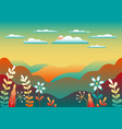 countryside landscape beautiful nature with vector image