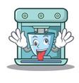 crazy coffee maker character cartoon vector image vector image