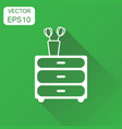 cupboard furniture icon business concept vector image vector image