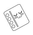 cute book cartoon vector image vector image