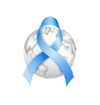 diabetes day awareness symbol blue ribbon vector image