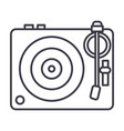 dj vinylturntable line icon sign vector image