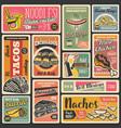 fast food snacks street food retro posters vector image vector image