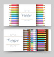 flat art painter workshop with paint supplies vector image