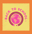 flat shading style icon back to school globe vector image vector image