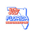 florida state 4th july independence day with vector image vector image