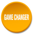 game changer orange round flat isolated push vector image vector image