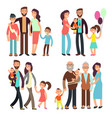 happy active family cartoon people vector image vector image