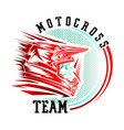 helmet motocross motocross design for t-shirt vector image vector image