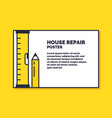house repair poster design services for building vector image vector image
