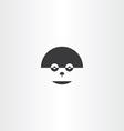 humanoid robot face icon logo vector image