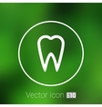 icon toothache sign line clinic symbol vector image vector image