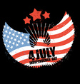 Independence Day America Symbol of countrys eagle vector image