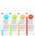 Infographic workflow layout diagram design vector image vector image