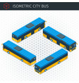 isometric city bus vector image vector image