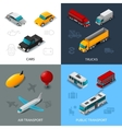Isometric Transport Set vector image vector image