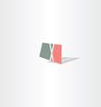 letter x logo sign polygon logo vector image vector image