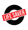 life saver rubber stamp vector image vector image