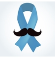 Light blue ribbon with mustache vector image vector image