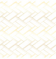 luxury seamless pattern golden cross lines vector image vector image