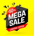 mega sale banner poster background vector image vector image