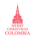 Merry Christmas Colombia vector image vector image